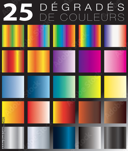 Photo  DÉGRADÉS DE COULEURS