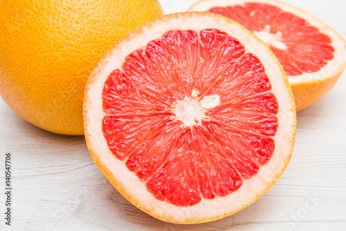 Fotografia  group of fresh grapefruit