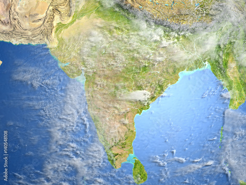 Indian subcontinent on planet Earth Tapéta, Fotótapéta