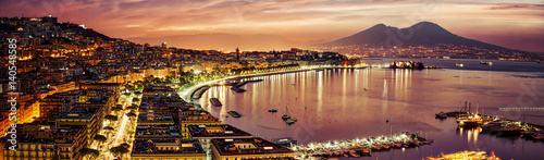 Canvas Prints Napels Naples Pano
