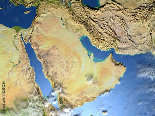 Fotografia, Obraz  Arab Peninsula on planet Earth