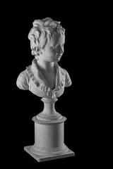 Plaster figure of a boy bust, portrait Brozhinar Alexander, son of the architect Bronyart. The work of Jean Antoine Houdon.
