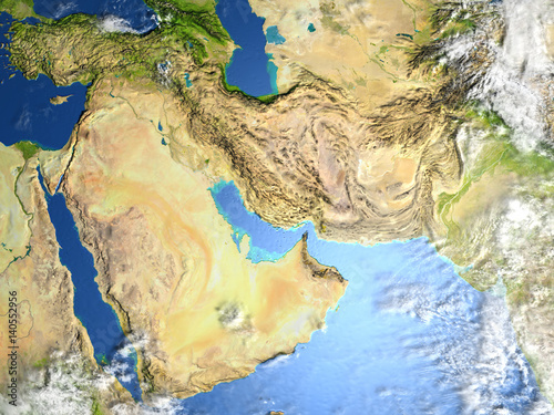 Arab Peninsula on planet Earth Canvas Print