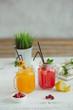 Fresh drink lemonade orange strawberry cranberries