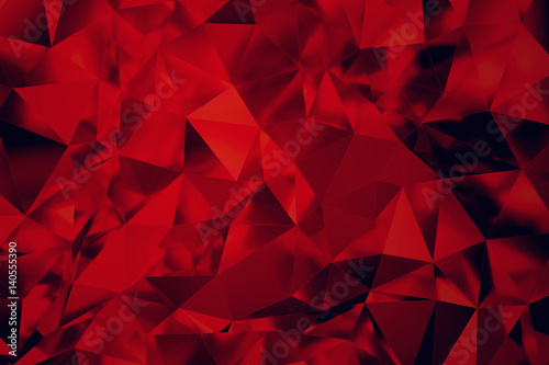 Fotomural  Red Stained-Glass 3d rendering Background