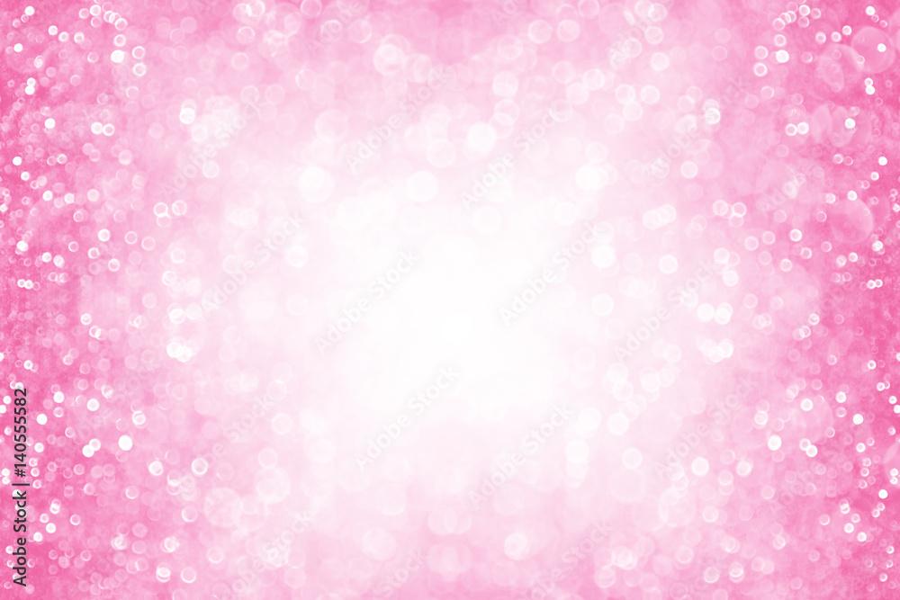 Photo Art Print Pink Glitter Girl Princess Party Birthday