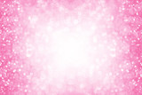 Pink glitter girl princess party birthday background or border