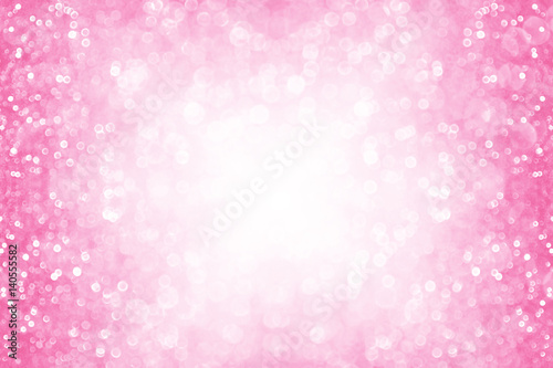 Fotografie, Obraz  Pink glitter girl princess party birthday background or border