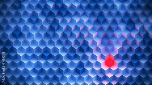 abstrakcyjne-schody-zbudowane-z-kwadratow-jeden-czerwony-kwadrat-posrod-niebieskich
