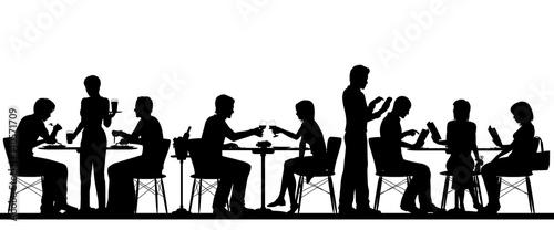 Fotobehang Restaurant Restaurant silhouette