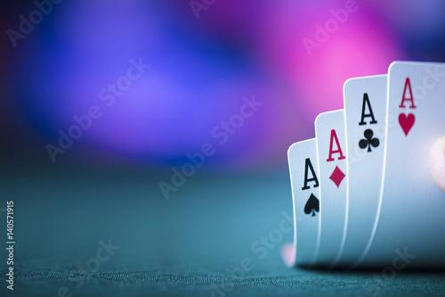 poker game Canvas-taulu