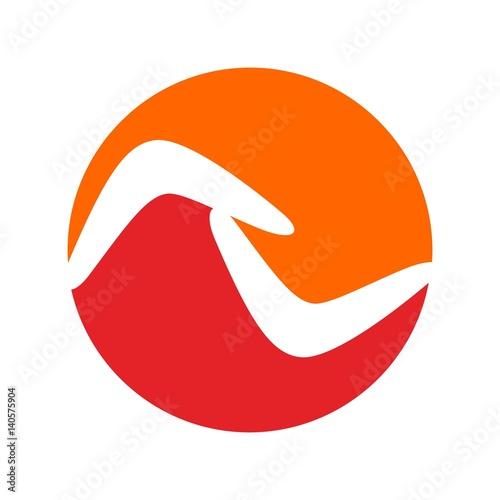 Photo boomerang logo vector.