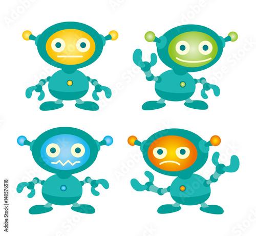 Aluminium Prints Creatures ロボット、ロボットイラスト、AIロボット、ロボキャラ