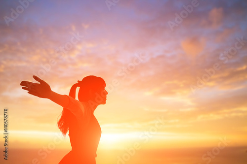 Valokuva  woman pray pious