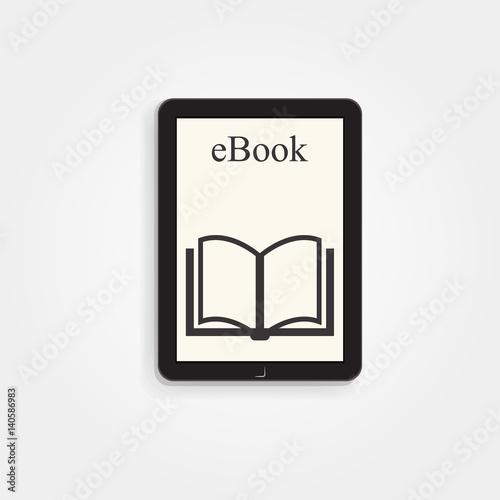 Cuadros en Lienzo ebook reader kindle, vector