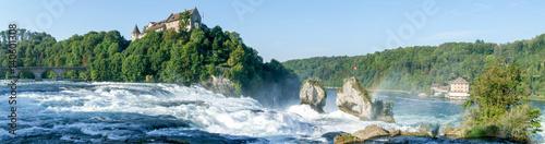 Küchenrückwand aus Glas mit Foto Wasserfalle The Rhine waterfalls at Neuhausen