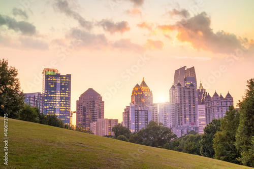 Plakat Midtown Atlanta skyline