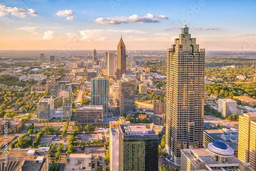 Plakat Skyline miasta Atlanta