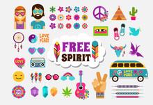Hippie, Bohemian Design With I...