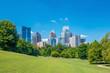 Midtown Atlanta skyline from the park