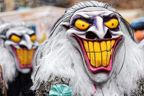 Umzug Der Masken Bei Der Basler Fasnacht Buy This Stock Photo And