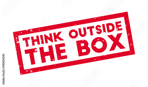 Think Outside The Box Rubber Stamp Grunge Design With Dust Scratches Effects Can Be