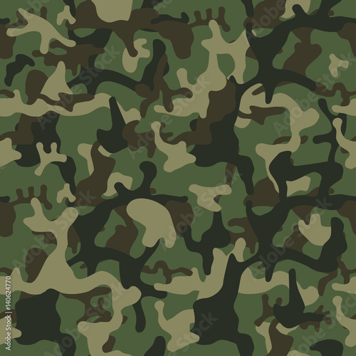 Fotografía  Camouflage pattern background seamless