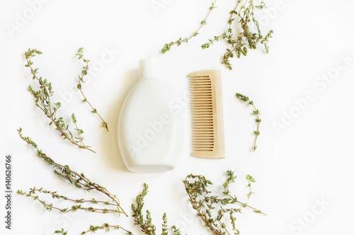 Fotografie, Obraz  Flat lay bath products/ Natural bath products