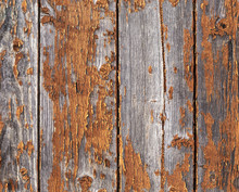 Old Weathered Red Painted Wood...