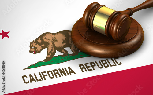 California Legal System And Law Concept Canvas-taulu