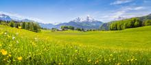 Idyllic Landscape In The Alps ...