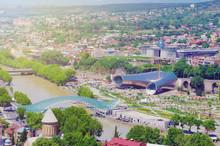 Georgia, City Tbilisi. Selective Focus.