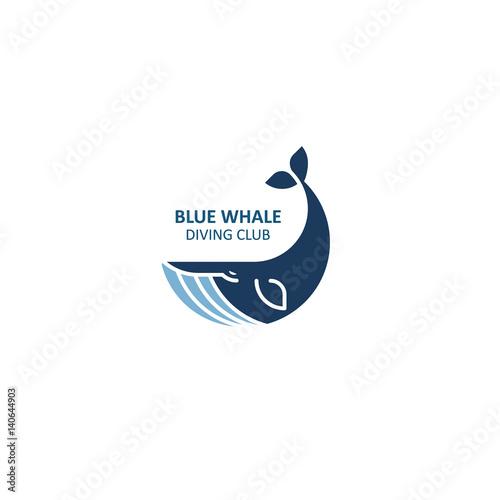 Naklejka premium Logo wieloryba. Ilustracji wektorowych.