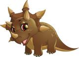 Fototapeta Dinusie - Beautiful carton dinosaur