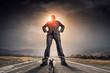 Leinwanddruck Bild - He is big boss and has power . Mixed media