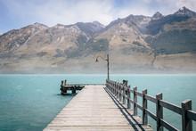 Jetty Into Mountain Lake