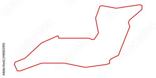 Photo  Autodromo Enzo e Dino Ferrari - Imola - Streckenverlauf - rot