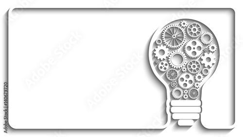 light bulb gears Canvas Print