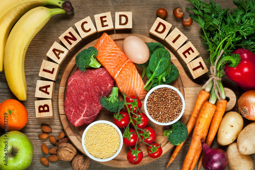 Balanced diet Wallpaper Mural