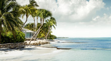 Panorama Of Paradise Beach On Grand Cayman