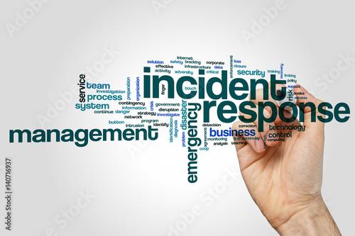 Fotografie, Obraz  Incident response word cloud