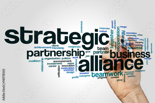 Strategic alliance word cloud Wallpaper Mural