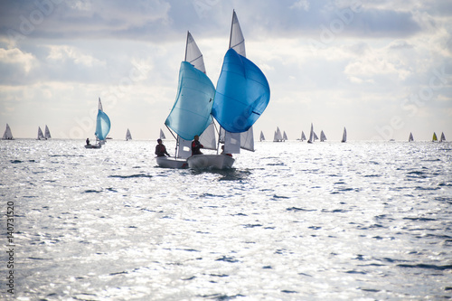 Voile sailing Regatta on sea