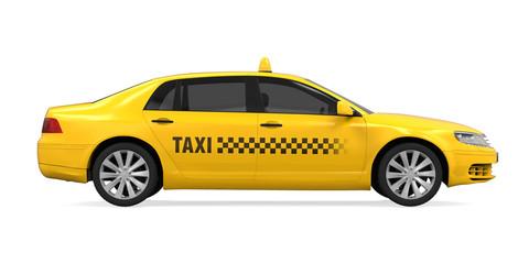 Żółty Taxi Odizolowywający