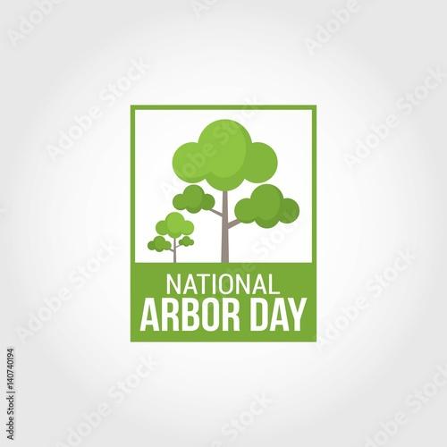 Fényképezés National Arbor Day Vector Illustration