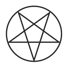 Pentagram Symbol Vector Icon