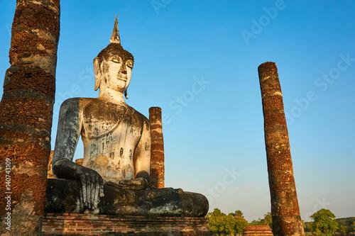 Fotografie, Obraz  Sukhothai Historical Park, World heritage site in Thailand.