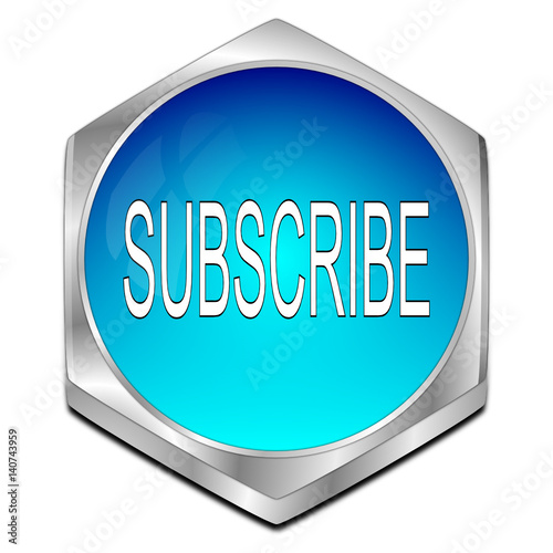 Fotografija  Subscribe Button - 3D illustration