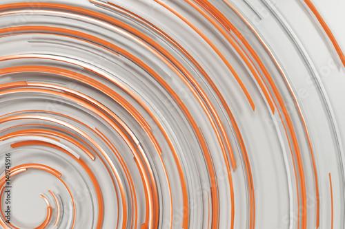 biala-koncentryczna-spirala-z-pomaranczowymi-rozjarzonymi-elementami-na-bialym-tle