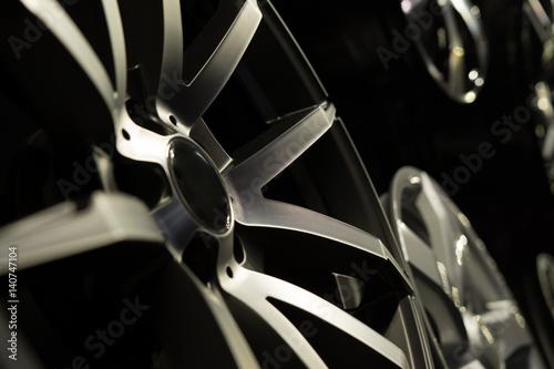 Fotografía  Alloy rims closeup